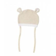 Купить шапочка вязаная с завязками, кремовый mothercare 2714804