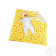 Купить комплект на выписку алиса slingme, цвет: желтый комбинезон/одеяло/шапка/снуд/бант 90 х 90 см ( id 12798010 )