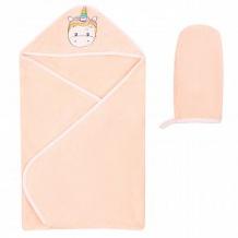 Купить комплект leader kids полотенце/рукавица 75 х 100 см, цвет: оранжевый ( id 12037738 )