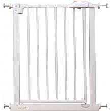 Купить барьер-калитка для дверного проема baby safe xy-007a, 67-75 см, белый металл ( id 13278252 )