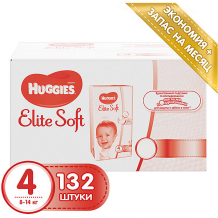 Подгузники Huggies Elite Soft 4, 8-14 кг, 132 шт. ( ID 4861835 )