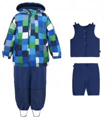 Купить комплект куртка/полукомбинезон play today маленькие исследователи, цвет: синий 347001