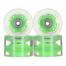 Купить колеса для скейтборда для лонгборда с подшипниками sunset conical longboard wheel set with abec9 green 78a 65 mm прозрачный,зеленый ( id 1115376 )