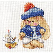 """Купить набор для вышивания алиса зайка ми """"моряк"""" 14х14 см ( id 16690820 )"""