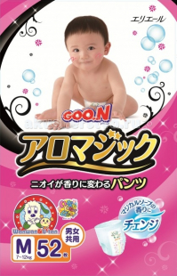 Купить goon aromagic подгузники-трусики m (7-12 кг) 52/56 шт.