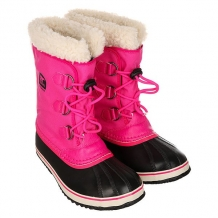 Купить сапоги зимние детские sorel yoot pac nylon haute an pink черный,розовый 1164869