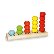 """Купить деревянная пирамидка alatoys """"счеты"""", 5 цветов 15 деталей ( id 7140511 )"""