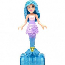 Кукла Mega Bloks Барби с голубыми волосами в фиолетовом топе, 6 дет. ( ID 5432911 )