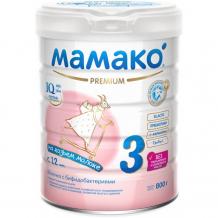Купить мамако 3 premium молочная смесь на основе козьего молока с 12 мес. 800 г 012