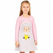 Купить платье апрель овечка, цвет: серый/розовый ( id 12520516 )