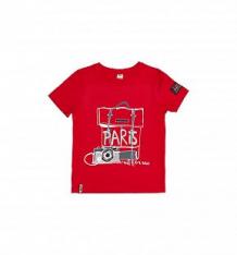 Купить футболка lucky child лемур в париже, цвет: красный ( id 10475222 )