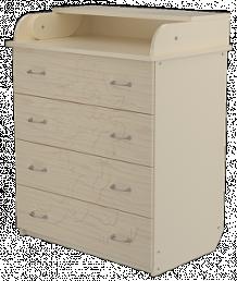 Комод с пеленальным столом Valle Cat, цвет: слоновая кость ( ID 2763605 )