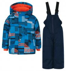 Купить комплект куртка/полукомбинезон salve by gusti, цвет: голубой/оранжевый ( id 9820074 )