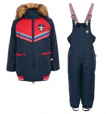 Купить комплект куртка/комбинезон лайки, цвет: синий/красный ( id 7464691 )