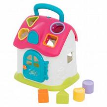 Купить игрушка-сортер игруша домик (розовая крыша) ( id 12044836 )