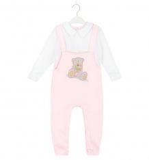 Купить комбинезон папитто мишка с шоколадкой, цвет: белый/розовый ( id 7206877 )