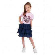 Купить юбка leader kids синее шитье, цвет: синий ( id 12058900 )