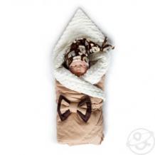 Купить комплект на выписку филька slingme, цвет: коричневый комбинезон/одеяло/шапка/снуд/бант 90 х 90 см ( id 12797524 )
