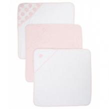Купить полотенце-уголок cuddle \'n\' dry, цвет - розовый, белый, 3 шт. в упаковке mothercare 6527325