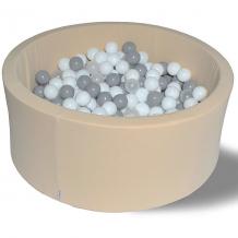 """Купить сухой игровой бассейн hotenok """"жемчужный снег"""" 40 см, 200 шариков 9633758"""