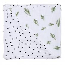 Купить одеяло bebe au lait bamboo muslin saguaro and dottie кактусы,122x122 см bebe au lait 996984302