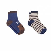 Купить носки детские, 2 пары, коричневый, темно-синий mothercare 997249011