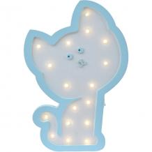 Купить светильник настенный ночной лучик «котенок гав», голубой ( id 12370894 )