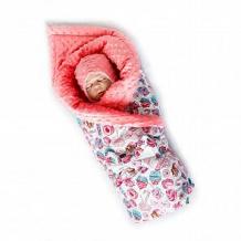 Комплект на выписку Карамелька Slingme, цвет: розовый комбинезон/одеяло/шапка/снуд/бант 90 х 90 см ( ID 12797470 )