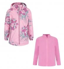 Купить комплект толстовка/ветровка stella, цвет: розовый/красный ( id 8721001 )