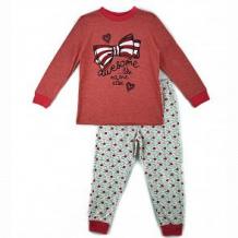 Купить пижама джемпер/брюки mirdada, цвет: красный/серый ( id 11909596 )