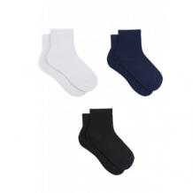 Купить носки детские, 3 пары, белый, черный, синий mothercare 997105416