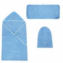 Купить комплект baby nice варежка, цвет: голубой полотенце/рукавица ( id 10762229 )