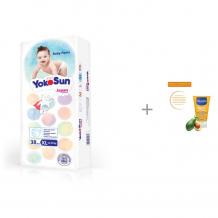 Купить yokosun подгузники-трусики xl (12-20 кг) 38 шт. с солнцезащитным молочком mustela sun spf 50+ 100 мл