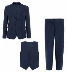 Купить комплект пиджак/жилет/брюки rodeng, цвет: синий ( id 6271615 )