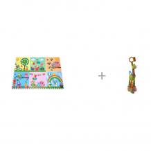 Купить игровой коврик mambobaby парк сов 180х120 см и подвесная игрушка forest жираф с колечками