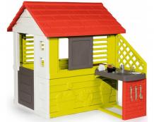 Купить smoby игровой домик с кухней 81071 81071