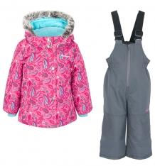 Купить комплект куртка/полукомбинезон zingaro by gusti, цвет: голубой/розовый ( id 9911370 )