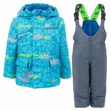 Купить комплект куртка/полукомбинезон stella's kids crocodiles, цвет: голубой ( id 11872000 )
