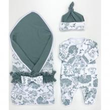 Купить комплект на выписку супермамкет летний (комбинезон, шапочка, плед, пояс-бант) оленята kompl-l01/оленята