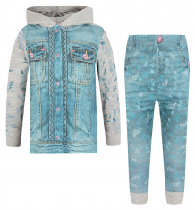 Купить комплект кофта/брюки папитто fashion jeans, цвет: фиолетовый/синий 6079273
