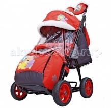 Купить санки-коляска galaxy snow city-1 мишка со звездой колеса ева