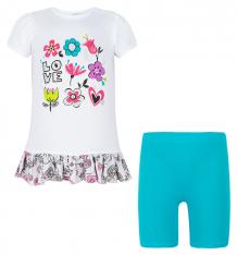 Купить комплект платье/бриджи koala, цвет: белый v6-195