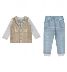 Купить комплект кофта/брюки папитто fashion jeans, цвет: синий/серый 6079273