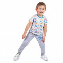 Купить комплект футболка 2 шт leader kids, цвет: белый/голубой ( id 12014854 )