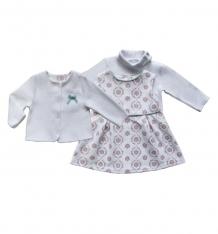Купить комплект жакет/сарафан/водолазка soni kids, цвет: белый/розовый ( id 3465538 )
