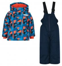 Купить комплект куртка/полукомбинезон salve by gusti, цвет: голубой/оранжевый ( id 9820320 )