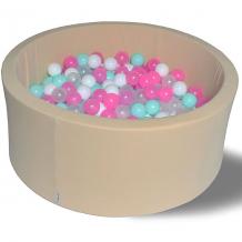 """Купить сухой бассейн hotenok """"ванильное мороженое"""" 40 см, 200 шариков ( id 9633858 )"""