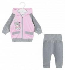 Комплект джемпер/брюки Leader Kids Веселые друзья, цвет: розовый ( ID 9094249 )