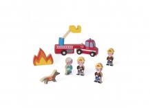 Купить деревянная игрушка janod набор фигурок маленькие истории пожарные j08515
