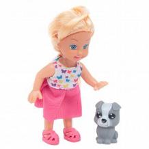 Купить кукла в наборе с фигуркой животного игруша серая собачка 11 см ( id 12314968 )
